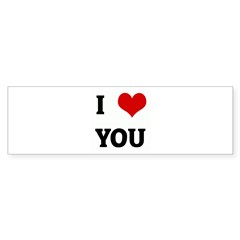 I Love YOU Sticker (Bumper 10 pk)