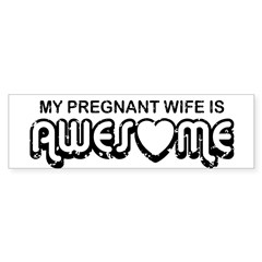My Pregnant Wife is Awesome Rectangle Sticker (Bumper 10 pk)
