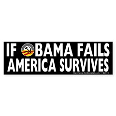 Anti-Obama Obama Fails America Survives Sticker (Bumper 10 pk)