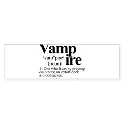 Definition of a Vampire Sticker (Bumper 10 pk)