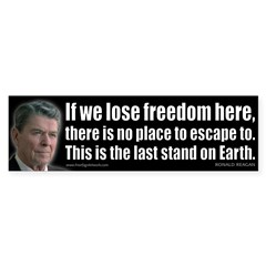 If we lose freedom here... Sticker (Bumper 10 pk)
