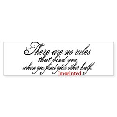 No rules bind Imprinted Sticker (Bumper 10 pk)