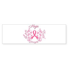 Breast Cancer Butterfly Hope Sticker (Bumper 10 pk)