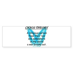 Chaos Theory - War Sticker (Bumper 10 pk)