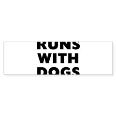 Runs Dog Sticker (Bumper 10 pk)