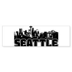 Seattle Skyline Sticker (Bumper 10 pk)