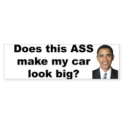 Does this ASS make my car look big? Sticker (Bumper 10 pk)