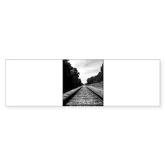 .railroad tracks. b&w Sticker (Bumper 10 pk)
