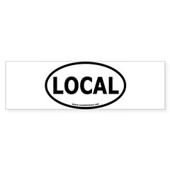 Local Oval Car Sticker (Bumper 10 pk)