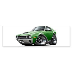 1970 AMX Green Car Sticker (Bumper 10 pk)