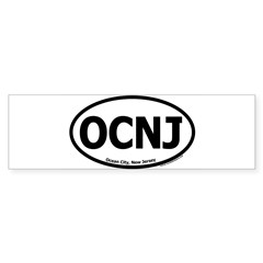 "Ocean City, New Jersey ""OCNJ"" Oval Sticker (Bumper 10 pk)"