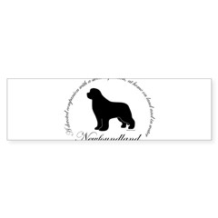 Devoted Black Newf Sticker (Bumper 10 pk)