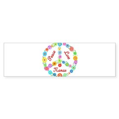 Peace Love Nanas Sticker (Bumper 10 pk)