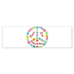 Peace Love Hamsters Sticker (Bumper 10 pk)
