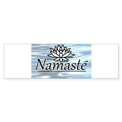Namaste Lotus Ripple Sticker (Bumper 10 pk)