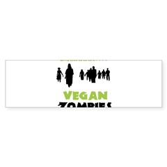 Vegan Zombie Sticker (Bumper 10 pk)