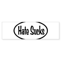 Hate Sucks Oval Sticker (Bumper 10 pk)