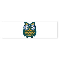 Retro Owl Sticker (Bumper 10 pk)