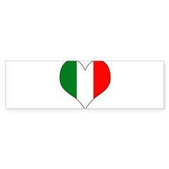 Italy Heart Sticker (Bumper 10 pk)