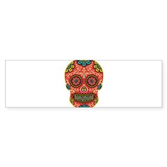 Red Sugar Skull Sticker (Bumper 10 pk)