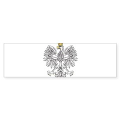 Polish Eagle With Gold Crown Sticker (Bumper 10 pk)