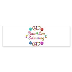 Peace Love Swimming Sticker (Bumper 10 pk)