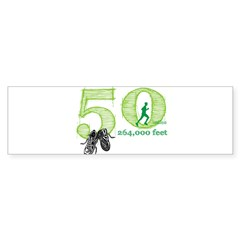 50 Mile Ultra Marathon Men Sticker (Bumper 10 pk)