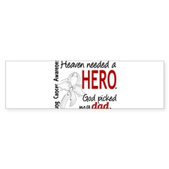 Heaven Needed a Hero Lung Cancer Sticker (Bumper 10 pk)