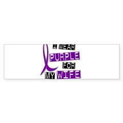 I Wear Purple 37 Epilepsy Sticker (Bumper 10 pk)
