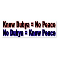 No Dubya Sticker (Bumper 10 pk)