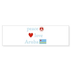 Peace, Love and Aruba Sticker (Bumper 10 pk)