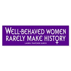 WELL-BEHAVED WOMEN Sticker (Bumper 10 pk)