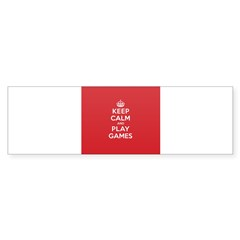 Keep Calm Play Game Sticker (Bumper 10 pk)
