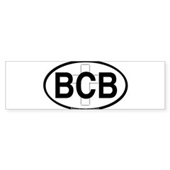 Baker's Chapel Oval Sticker (Bumper 10 pk)