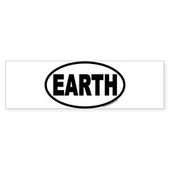 Earth Day EARTH Euro Oval Sticker (Bumper 10 pk)