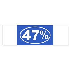 47 Percent Sticker (Bumper 10 pk)