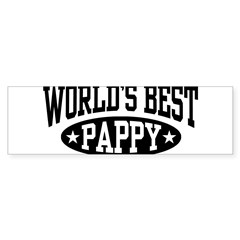 World's Best Pappy Sticker (Bumper 10 pk)
