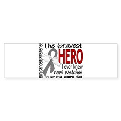 Bravest Hero I Knew Brain Cancer Sticker (Bumper 10 pk)