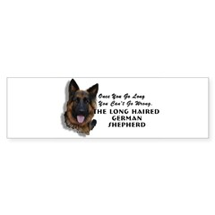 New Item! Long Haired German Shepherd Sticker (Bumper 10 pk)