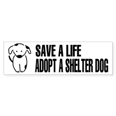 Adopt A Dog Sticker (Bumper 10 pk)