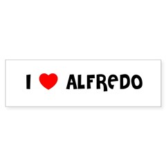 I LOVE ALFREDO Sticker (Bumper 10 pk)