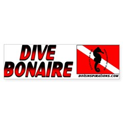 Dive Bonaire (red) Sticker (Bumper 10 pk)