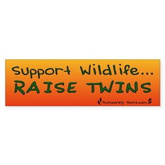 Support Wildlife - Raise Twin Sticker (Bumper 10 pk)