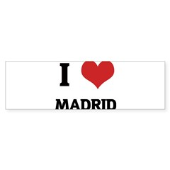 I Love Madrid Rectangle Sticker (Bumper 10 pk)