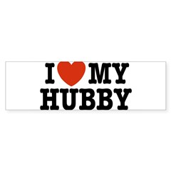 I Love My Hubby Rectangle Sticker (Bumper 10 pk)