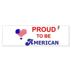 PROUD TO BE AMERICAN Sticker (Bumper 10 pk)