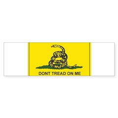 Gadsden Flag Rectangle Sticker (Bumper 10 pk)