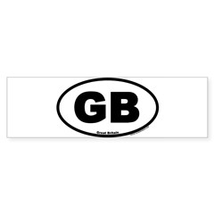 Great Britain GB Euro Oval Sticker (Bumper 10 pk)
