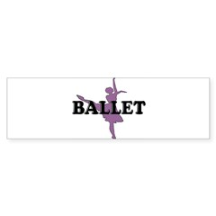 Female Ballet Silhouette Rectangle Sticker (Bumper 10 pk)
