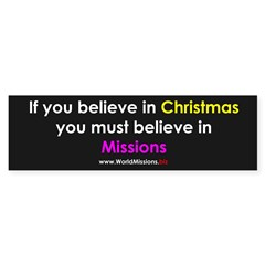 Christmas & Mission Sticker (Bumper 10 pk)